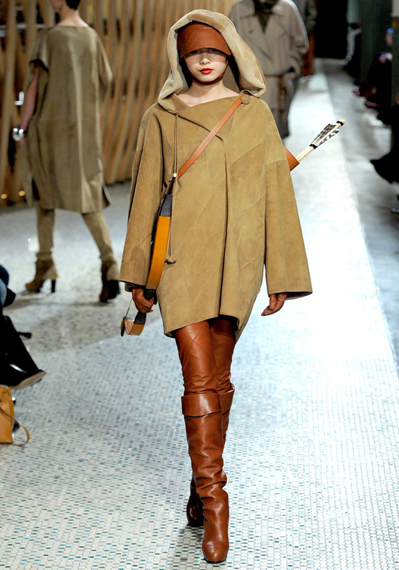 Hermes, Christophe Lemaire, fur, leather, autumn winter 2011, Paris fashion week, womenswear