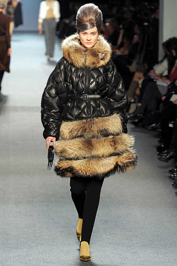 Jean Paul Gaultier, autumn winter 2011, fur, Paris fashion week, womenswear