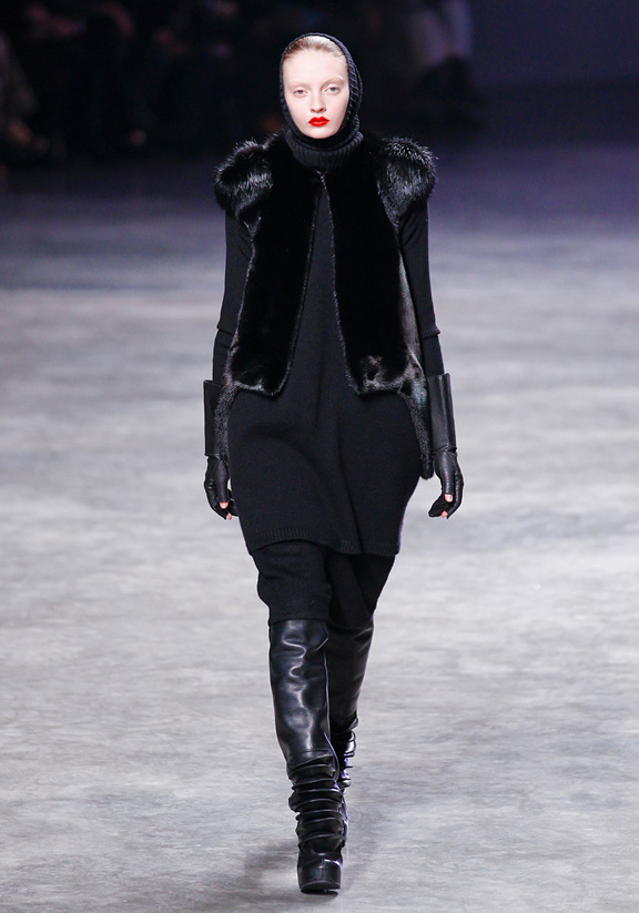 Rick Owens, autumn winter 2011, Paris fashion week, womenswear