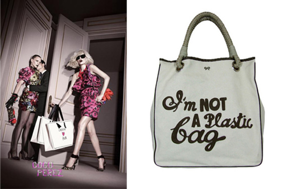 H&M, Lanvin, Alber Elbaz, designer collaborations, I'm Not A Plastic Bag, Anya Hindmarch