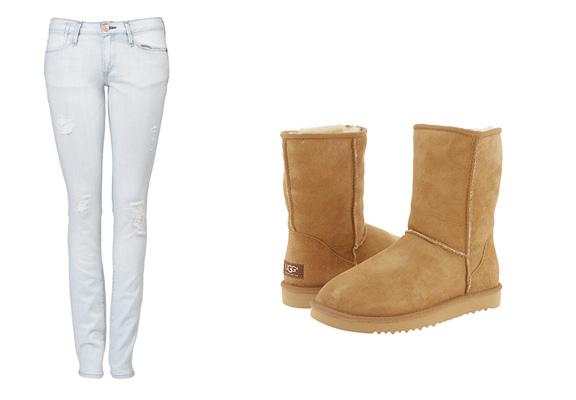 Ernest Sewn, Ugg boots, ripped jeasn, designer jeans
