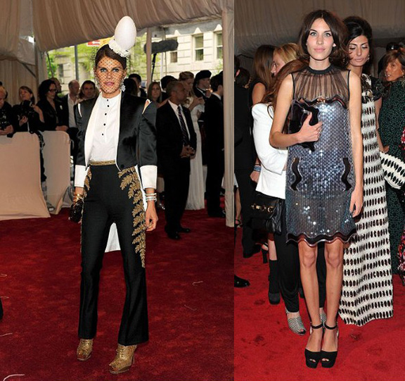 Anna Dello Russo, Alexander McQueen, Alexa Chung, Christopher Kane, red carpet fashion, The Met Ball