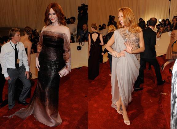 Christina Hendricks, Carolina Herrera, Blake Lively, Chanel, red carpet fashion, the Met ball