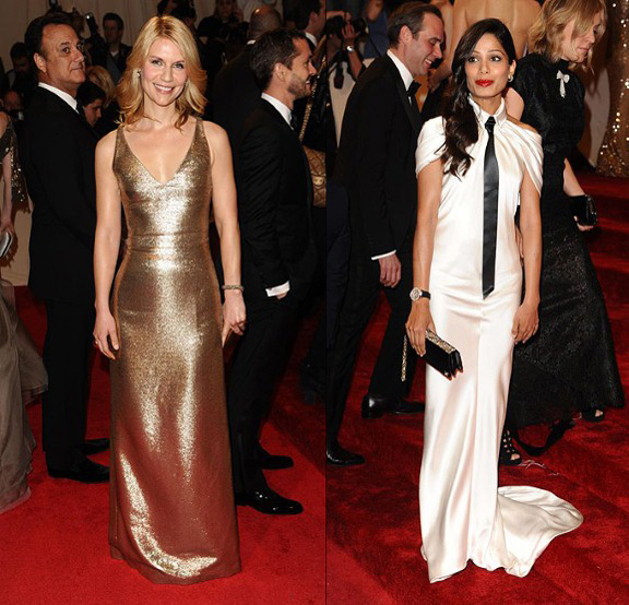 Claire Danes, Freida Pinto, Calvin Klein, Chanel, red carpet fashion, The Met Ball
