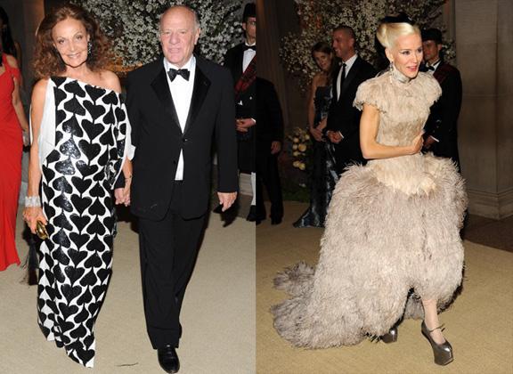 Diane Von Furstenberg, Daphne Guinness, Alexander McQueen, red carpet fashion, The Met Ball