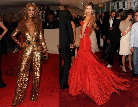 Iman, Stella McCartney, Gisele Bundchen, Alexander McQueen, red carpet fashion, The Met Ball