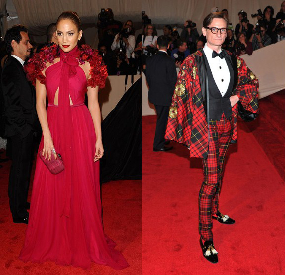 Jennifer Lopez, Hamish Bowles, Gucci, Alexander McQueen, red carpet fashion, the Met ball