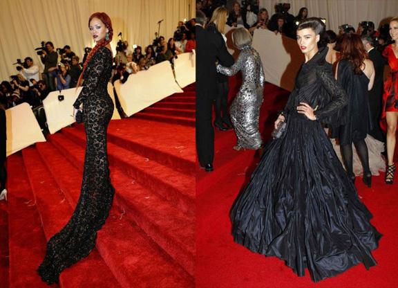 Rihanna, Stella McCartney, Crystal Renn, Zac Posen, red carpet fashion, The Met Ball