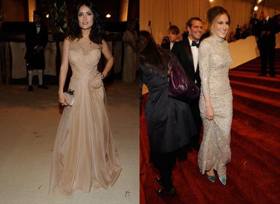 Salma Hayek, Alexander McQueen, Sarah jessica Parker, red carpet fashion, The Met Ball