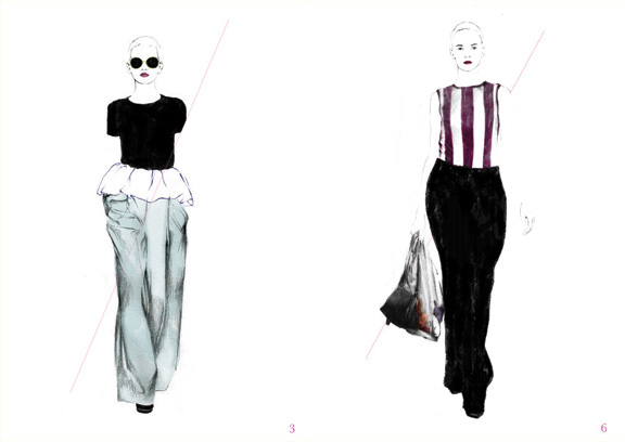 Spiros Halaris, fashion illustration, spring summer 2011, fashion imagery, pretty pictures, Jil Sander