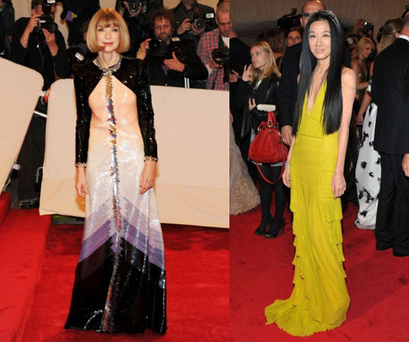 Anna Wintour, Chanel, Vera Wang, red carpet fashion, the Met ball