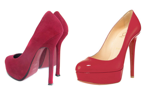 Yves Saint Laurent, amazing shoes, Christian Louboutin, fashion court case, Louboutin sues, red sole