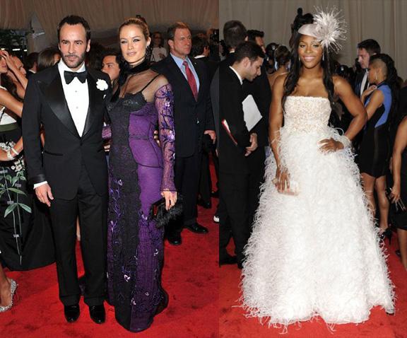 Tom Ford, Carolyn Murphy, Serena WIlliams, Oscar de la Renta, red carpet fashion, The Met Ball
