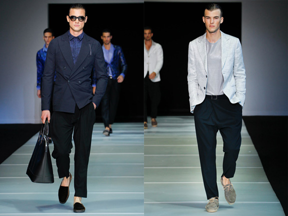 Giorgio Armani, Menswear, spring 2012, catwalk shows