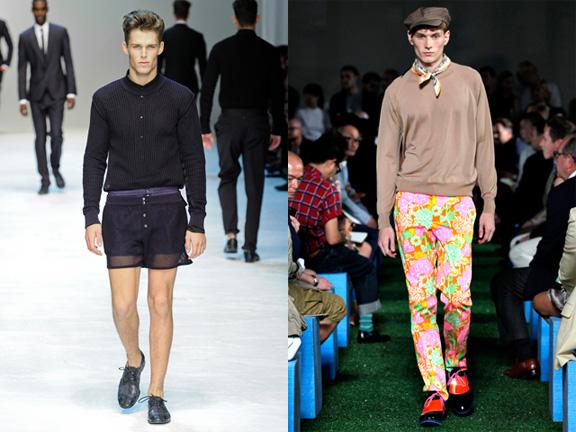 Dolce & Gabbana, Prada, Menswear, spring 2012, catwalk shows