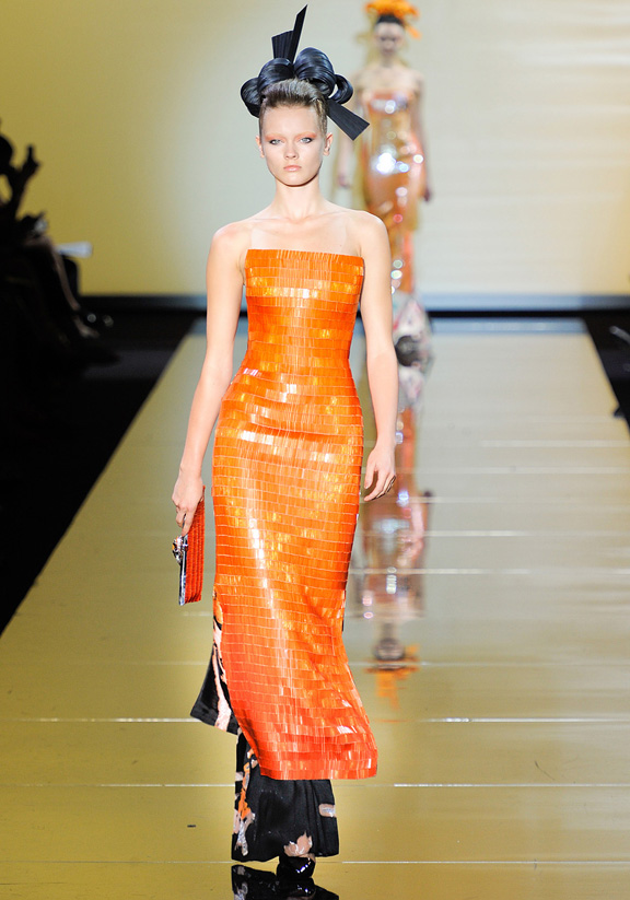 Armani Prive, haute couture, catwalk shows, fashion shows, Fall Winter 2011