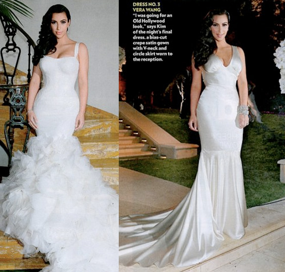 Kate Middleton Kim Kardashian wedding dress celebrity fashion
