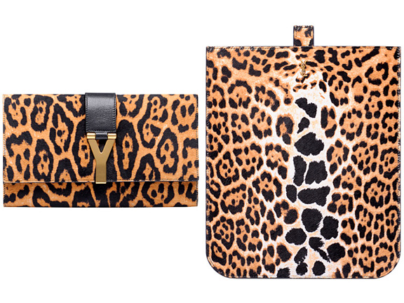 Yves Saint Laurent, YSL, fall winter 2011, designer handbags, leopard print