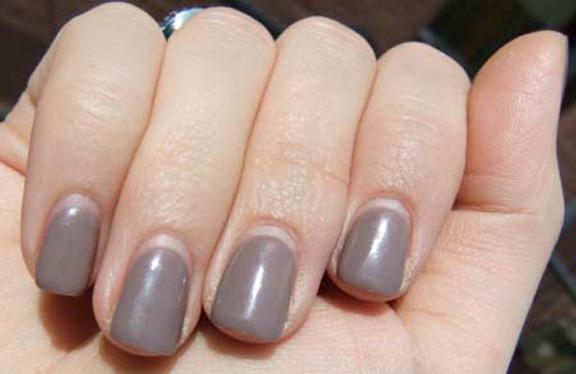 Nails after uv gel
