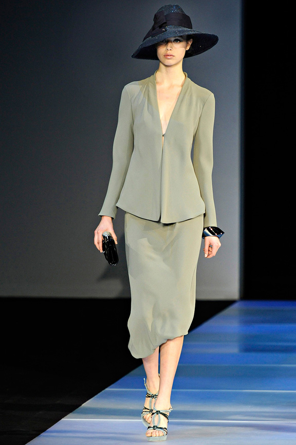 Giorgio Armani, Milan fashion week, fashion shows, catwalk, spring summer 2012