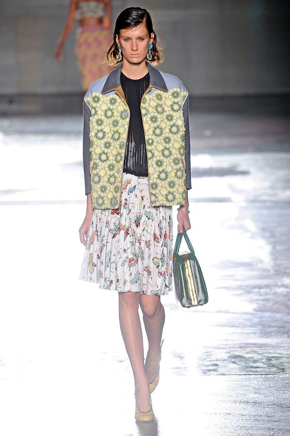 Prada, Milan fashion week, fashion shows, catwalk, spring summer 2012