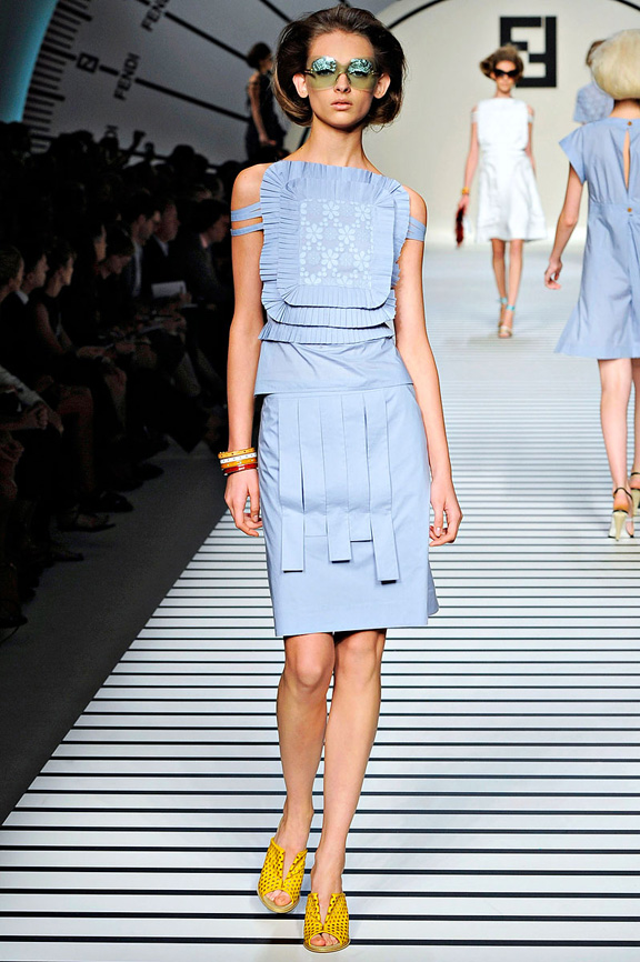 Fendi, Karl Lagerfeld, Milan fashion week, fashion shows, catwalk, spring summer 2012