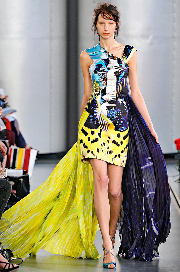 Mary Katrantzou, London fashion week, fashion shows, catwalk, spring summer 2012