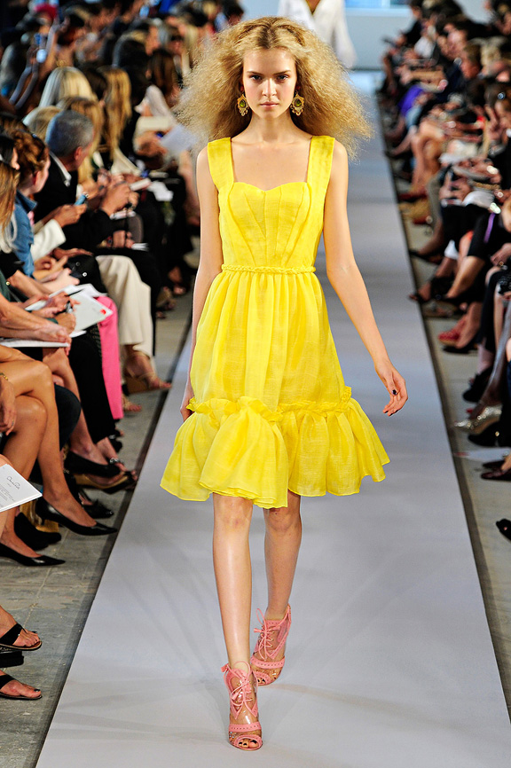 Oscar de la Renta, New York fashion week, fashion shows, catwalk, spring summer 2012