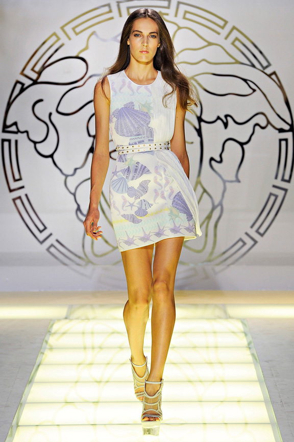 Versace, Donatella, Milan fashion week, fashion shows, catwalk, spring summer 2012