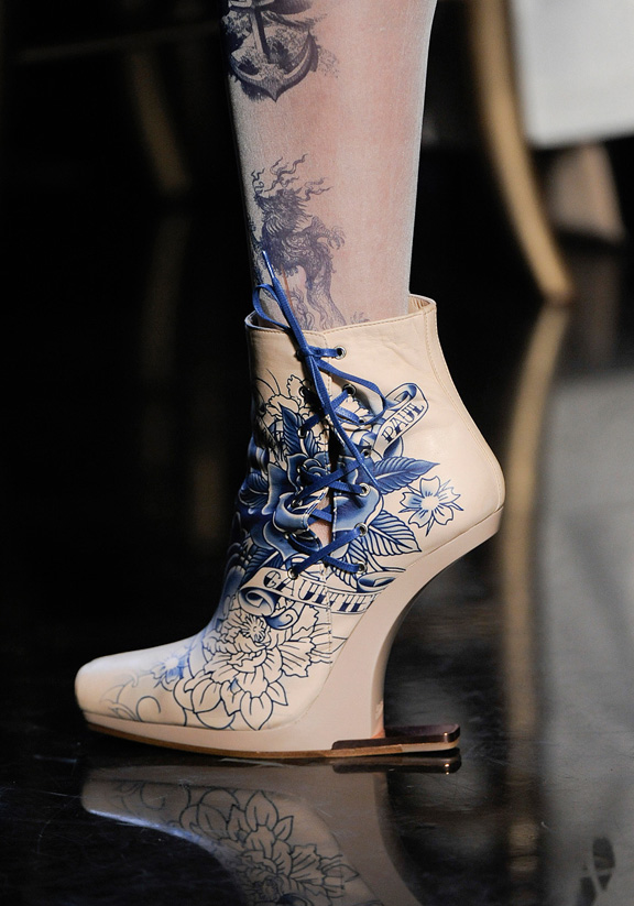 spring summer 2012, amazing shoes, catwalk shows, Paris, Jean Paul Gaultier