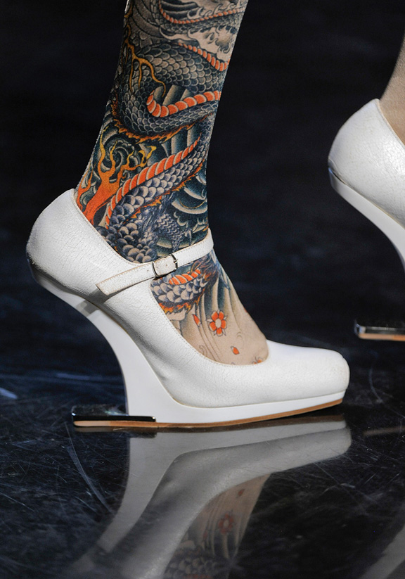 spring summer 2012, amazing shoes, catwalk shows, Paris, Jean Paul Gaultier