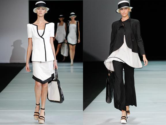 Milan fashion week, fashion shows, catwalk, spring summer 2012, Emporio Armani