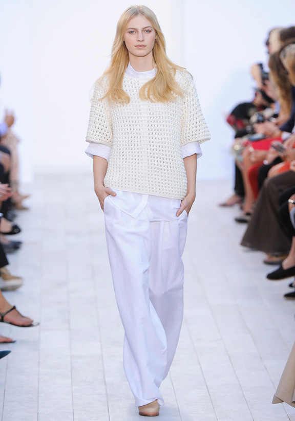 Clare Waight Keller, Chloe, Paris fashion week, fashion shows, catwalk, spring summer 2012