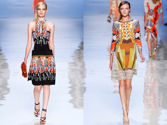 Milan fashion week, fashion shows, catwalk, spring summer 2012, Etro