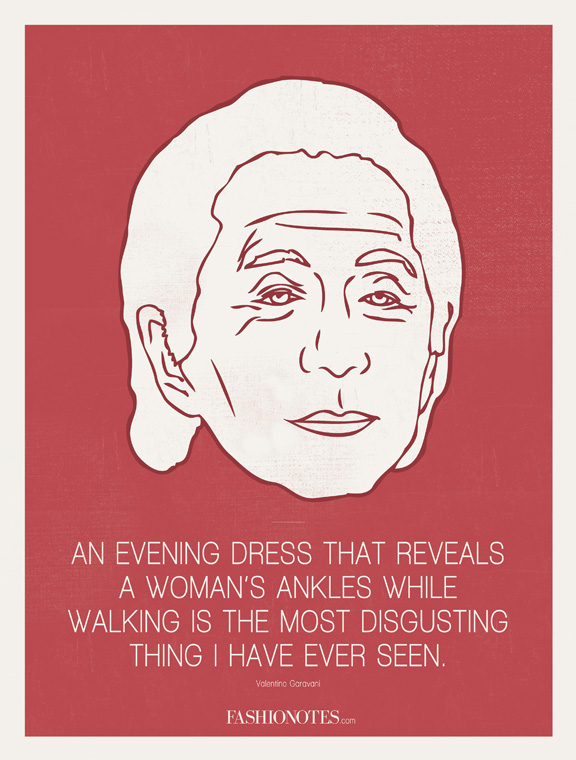 Fashion Quote: Valentino On Evening Dresses | Searching For Style