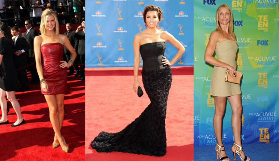 strapless dresses, fashion advice column, Ask Alexandra, red carpet