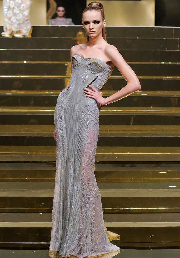 Paris fashion week, haute couture, fashion shows, catwalk, spring summer 2012, Versace
