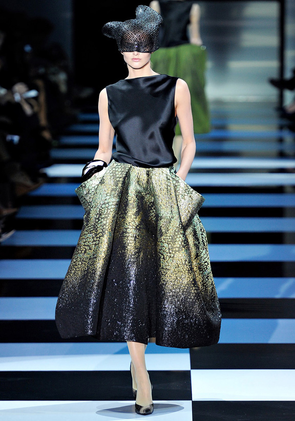 Paris fashion week, haute couture, fashion shows, catwalk, spring summer 2012, Armani Prive, Giorgio Armani