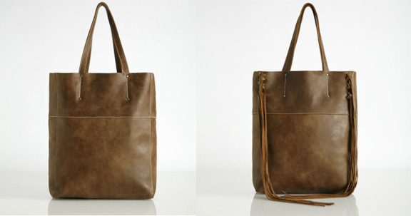 Roots, leather bags, tote, Canadian fashion