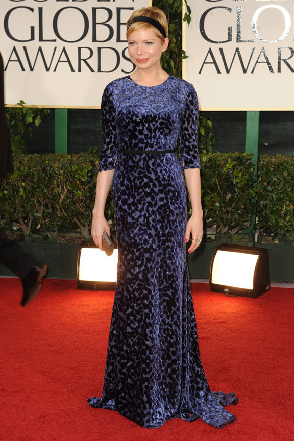 red carpet fashion, Golden Globes, celebrities, Michelle Williams, Jason Wu