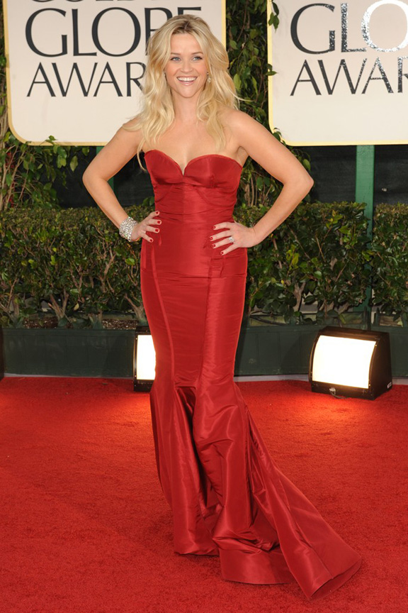 red carpet fashion, Golden Globes, celebrities, Reese Witherspoon