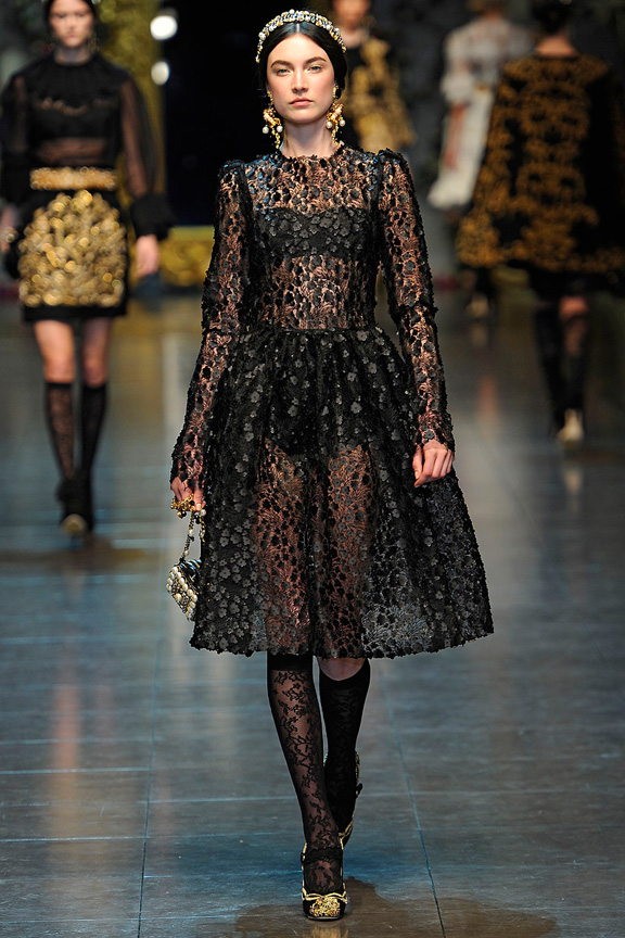 Milan fashion week, fashion shows, catwalk, fall winter 2012, dolce and gabbana