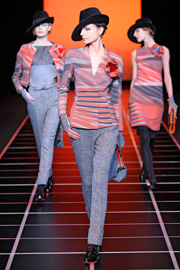 Milan fashion week, fashion shows, catwalk, fall winter 2012, giorgio armani