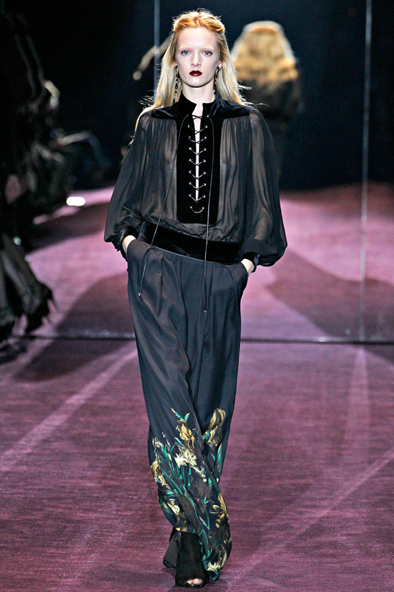 Milan fashion week, fashion shows, catwalk, fall winter 2012, Gucci
