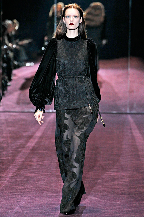 Milan fashion week, fashion shows, catwalk, fall winter 2012, Gucci<br />