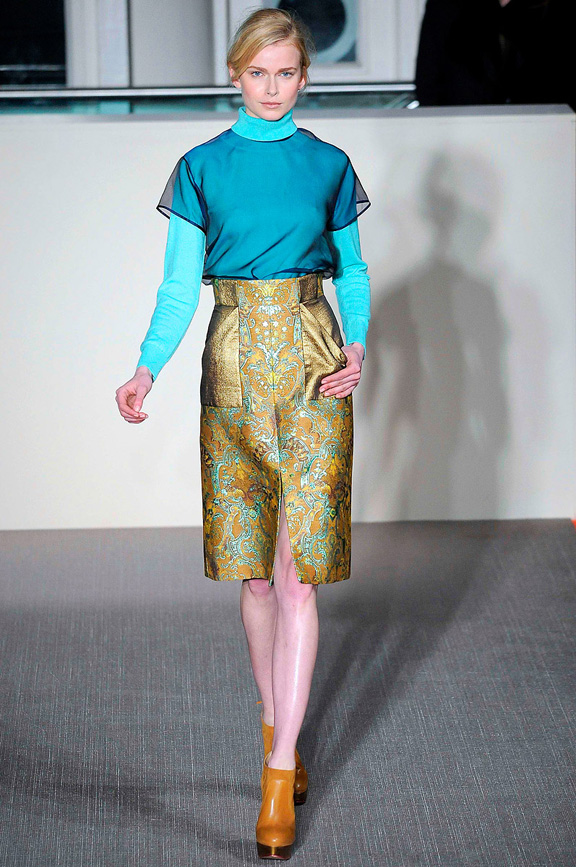 London fashion week, fashion shows, catwalk, fall winter 2012, Matthew Williamson<br />