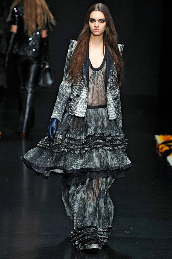 Milan fashion week, fashion shows, catwalk, fall winter 2012, roberto cavalli