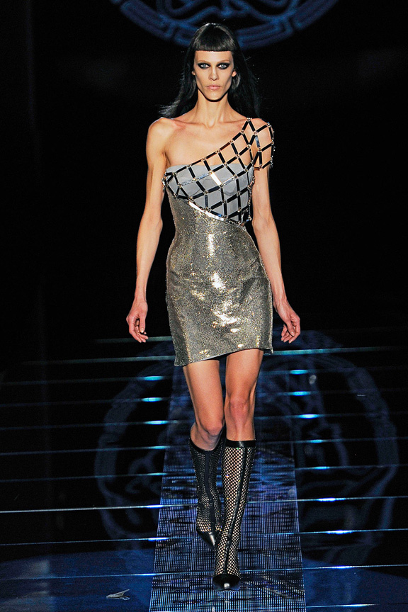 Milan fashion week, fashion shows, catwalk, fall winter 2012, Versace