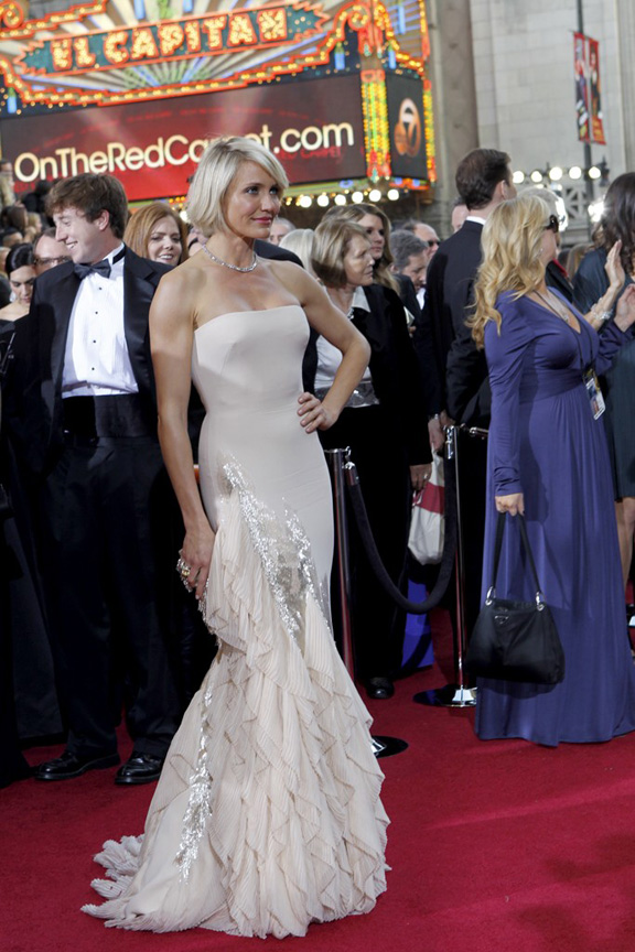 academy awards, oscars, red carpet, celebrities,, cameron diaz, gucci