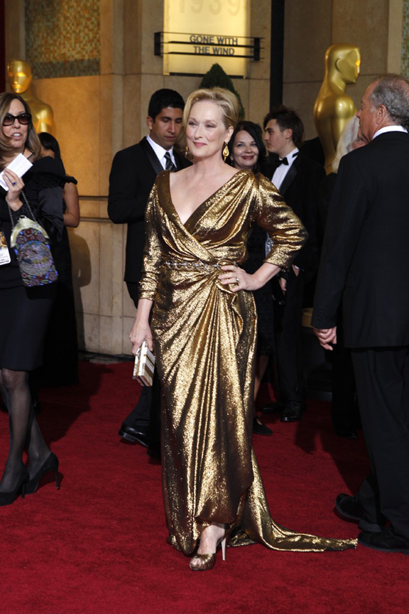 academy awards, oscars, red carpet, celebrities, meryl streep, Lanvin